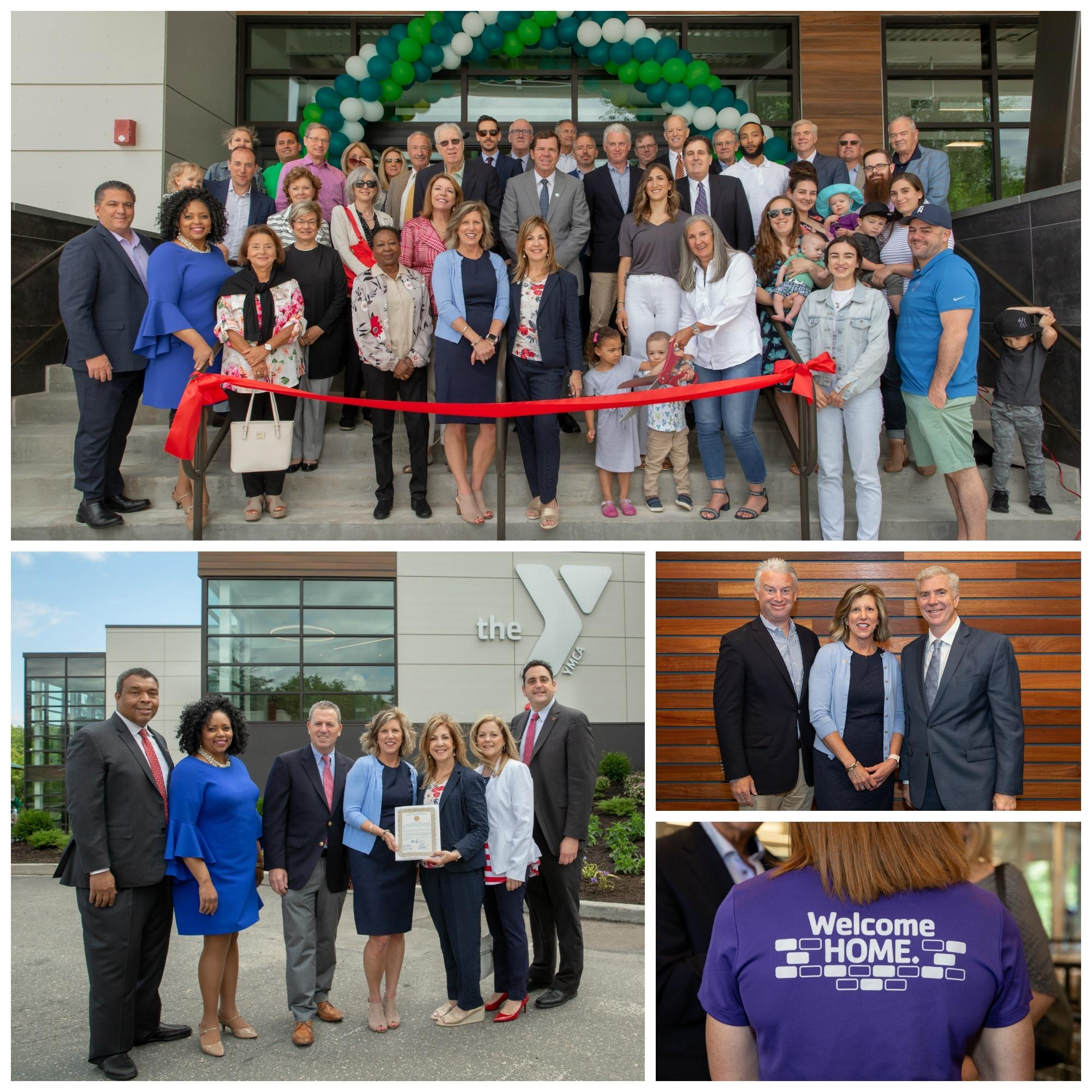 HLC ribbon cutting collage